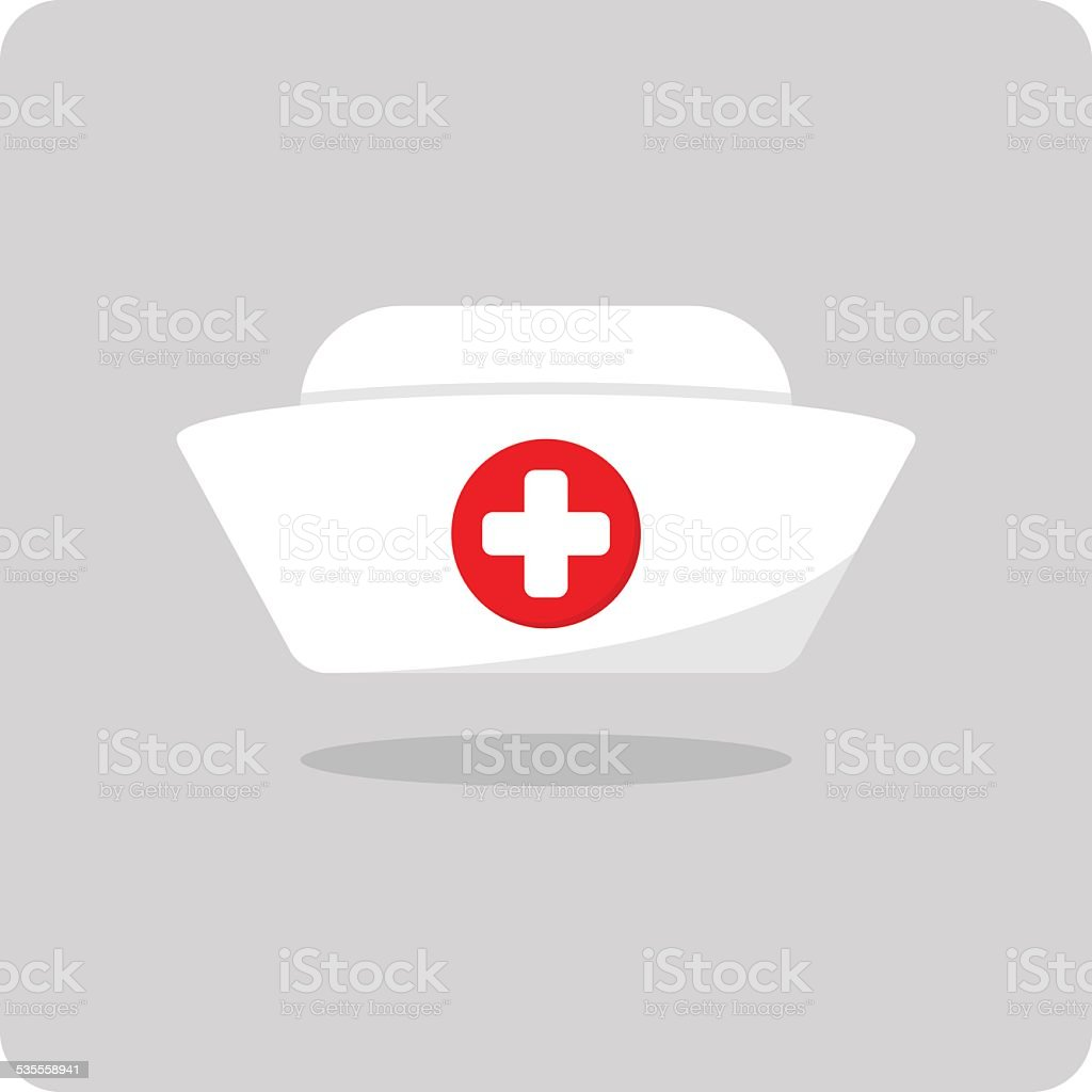 Vector of nurse hat icon vector art illustration