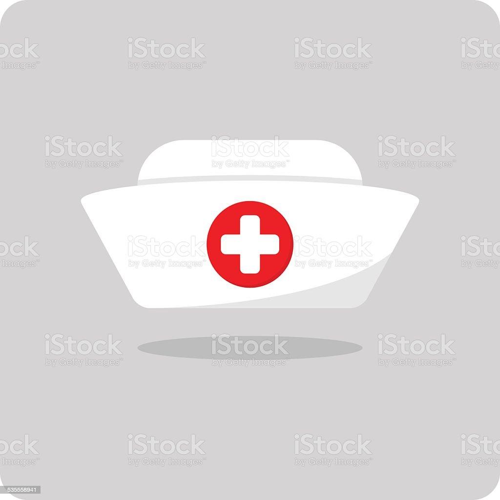 Vector of nurse hat icon vector art illustration