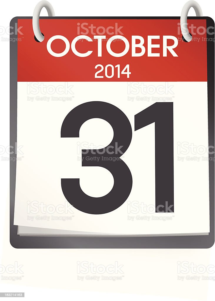 Vector of October 2014 Calendar royalty-free stock vector art