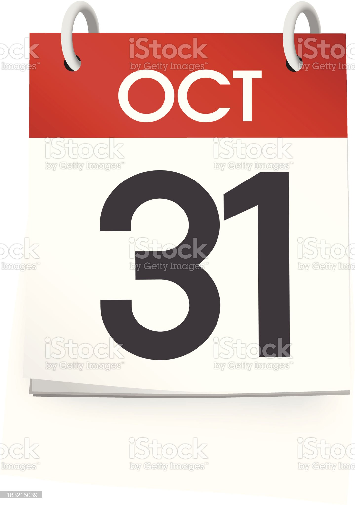 Vector of October Calendar royalty-free stock vector art