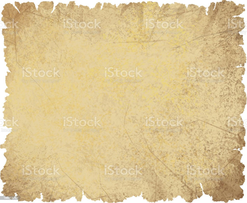 Vector of old crumpled paper. royalty-free stock vector art