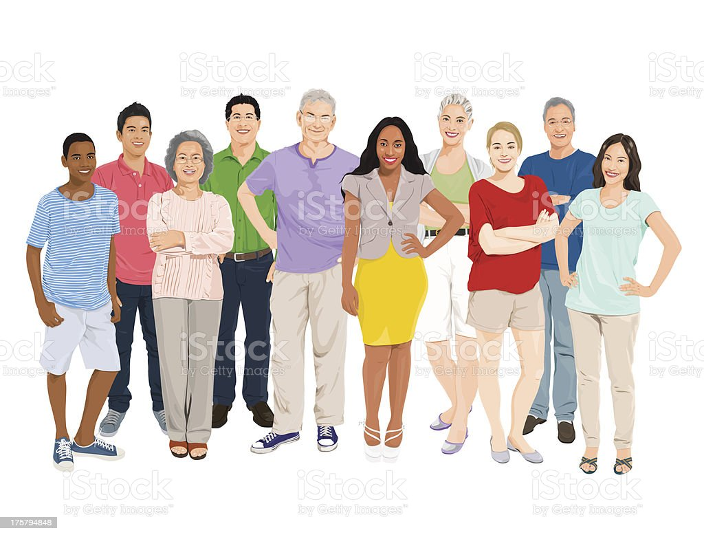 Vector of People Group vector art illustration