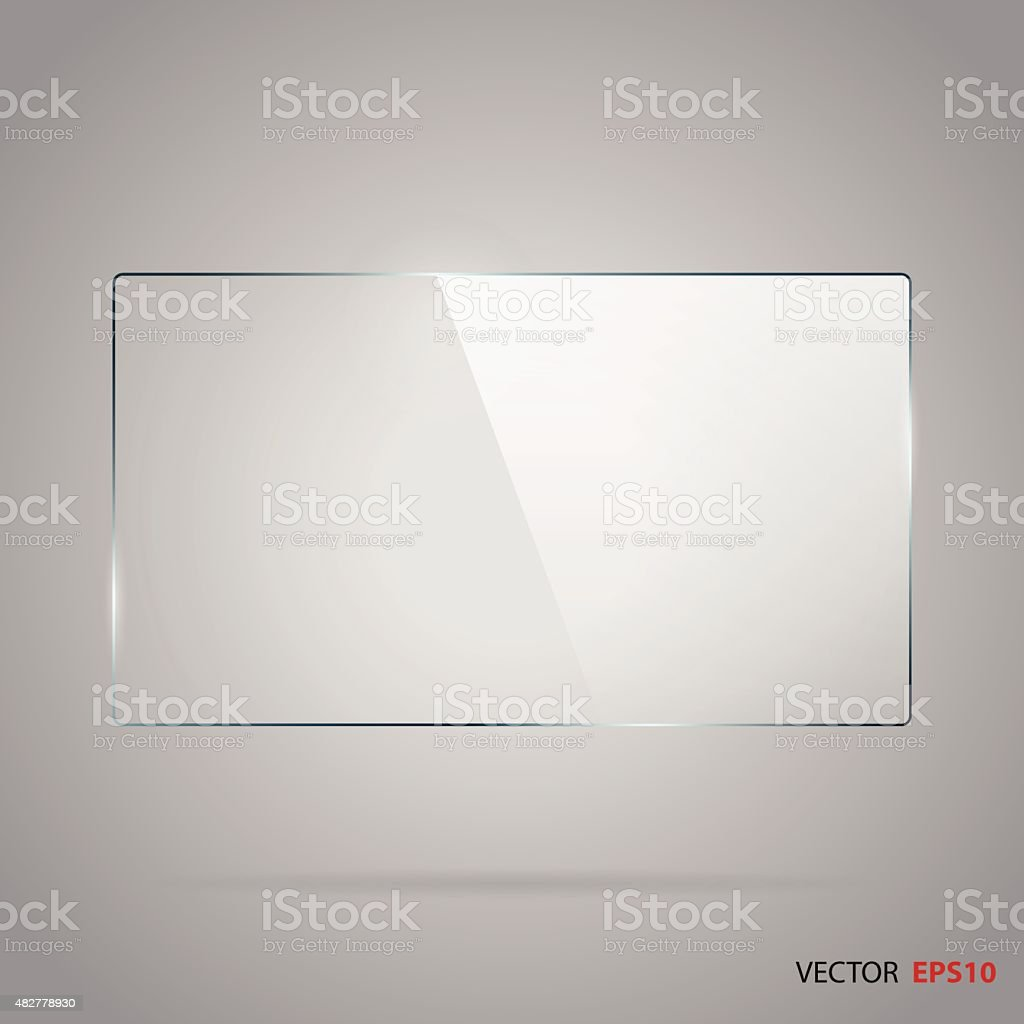 Vector of rectangle glass frame. vector art illustration