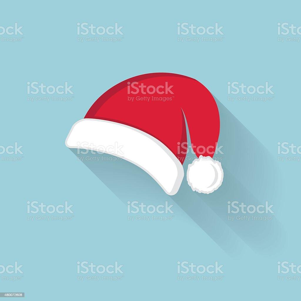 Vector of red Santa Claus hat vector art illustration