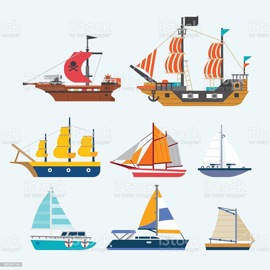 vector of sailboat vector art illustration