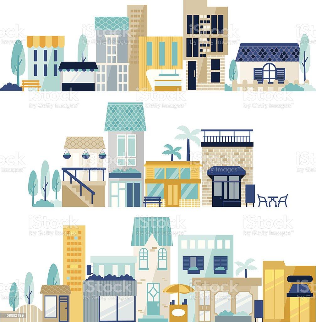 vector of shopping center vector art illustration