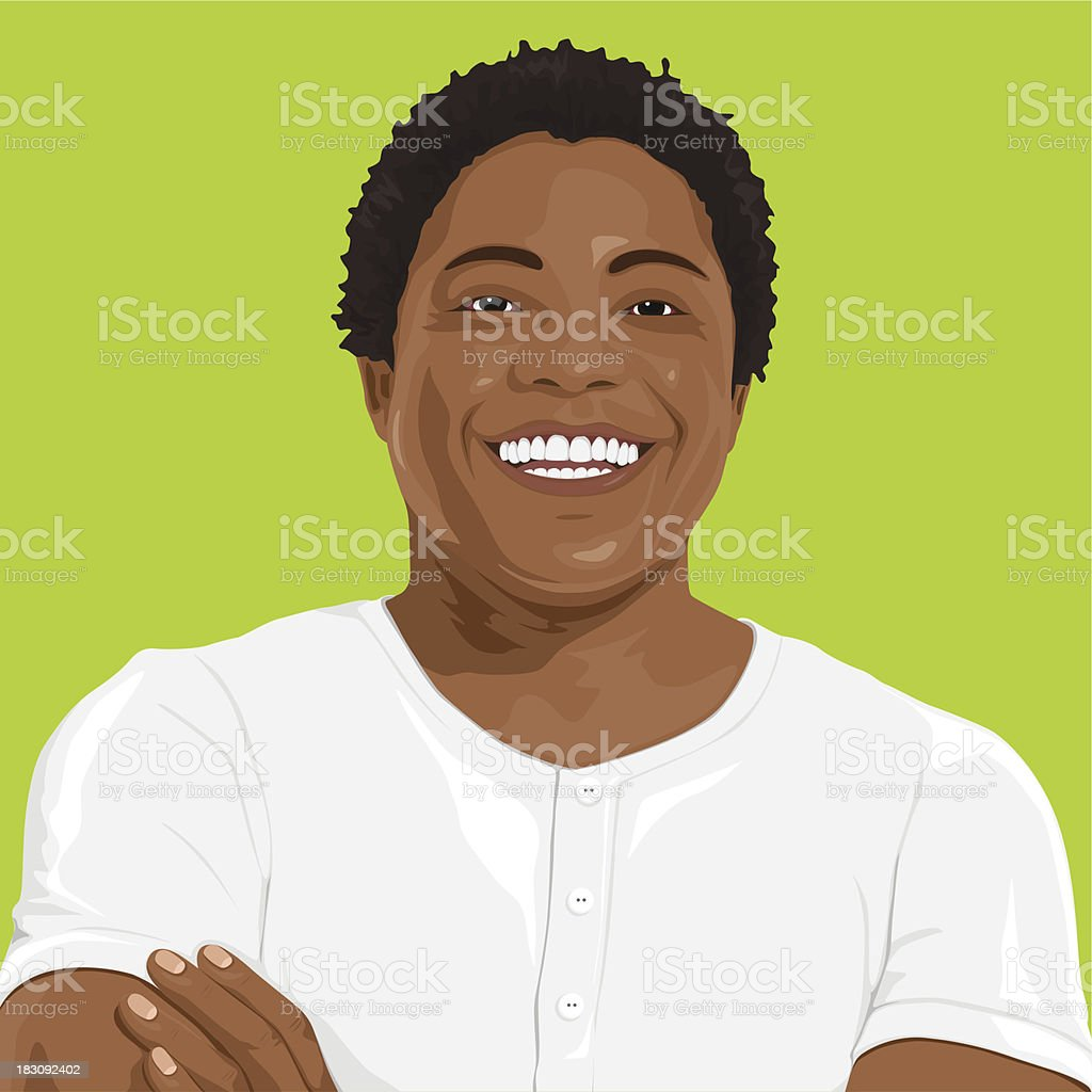 Vector of Smart Man Portrait vector art illustration
