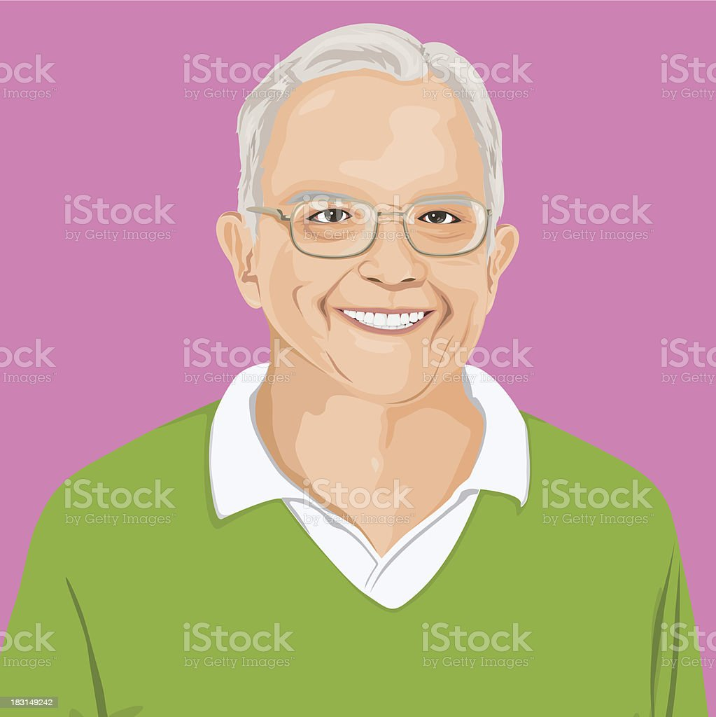 Vector of Smart Man Portrait royalty-free stock vector art