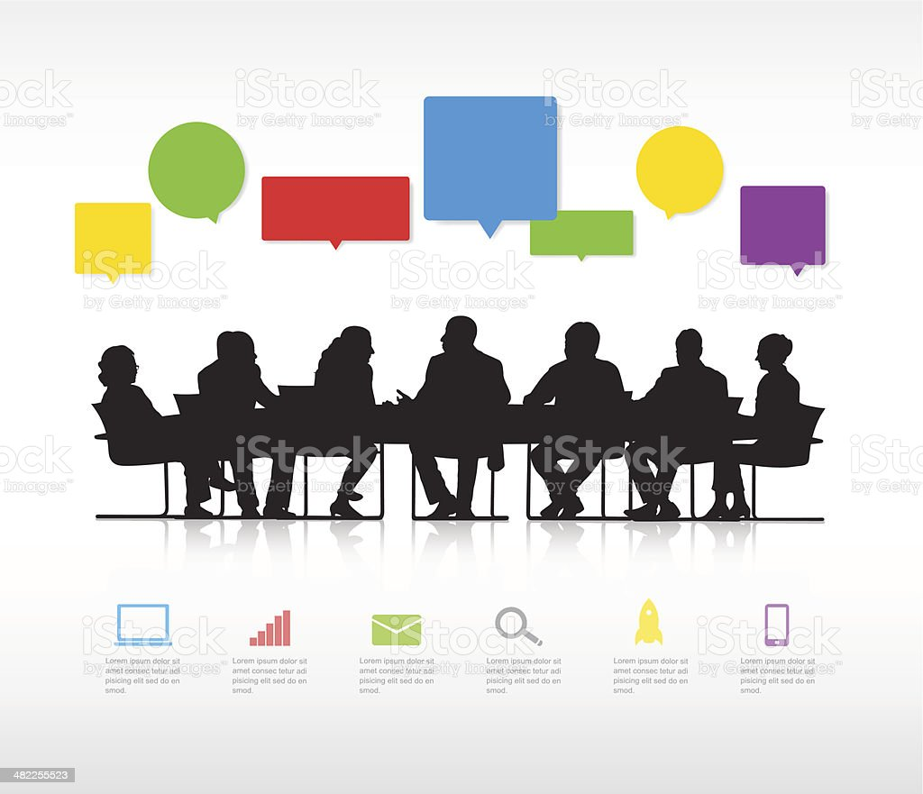 Vector of Social Business Gathering royalty-free stock vector art
