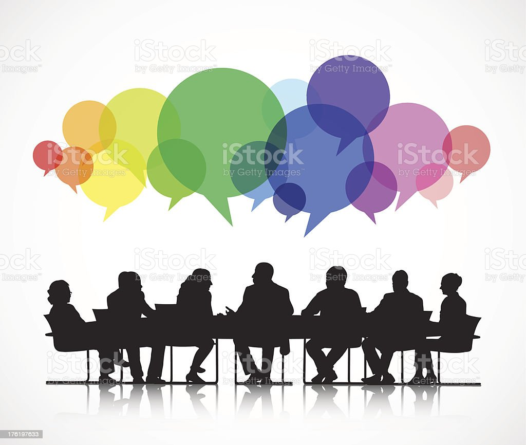 Vector of Social Business Meeting vector art illustration