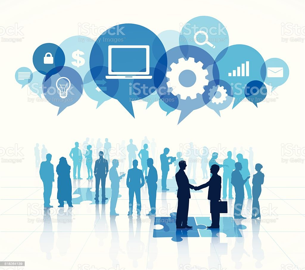 Vector of Social Networking People Group vector art illustration