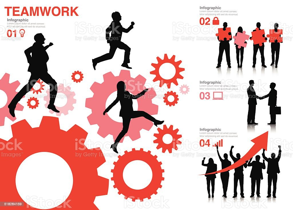 Vector of Successful Business Concept vector art illustration