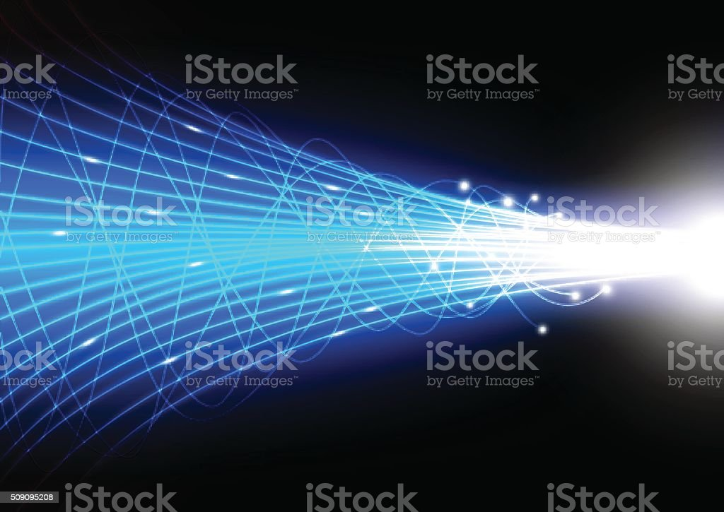 Vector of Technology abstract background with beam glowing line vector art illustration