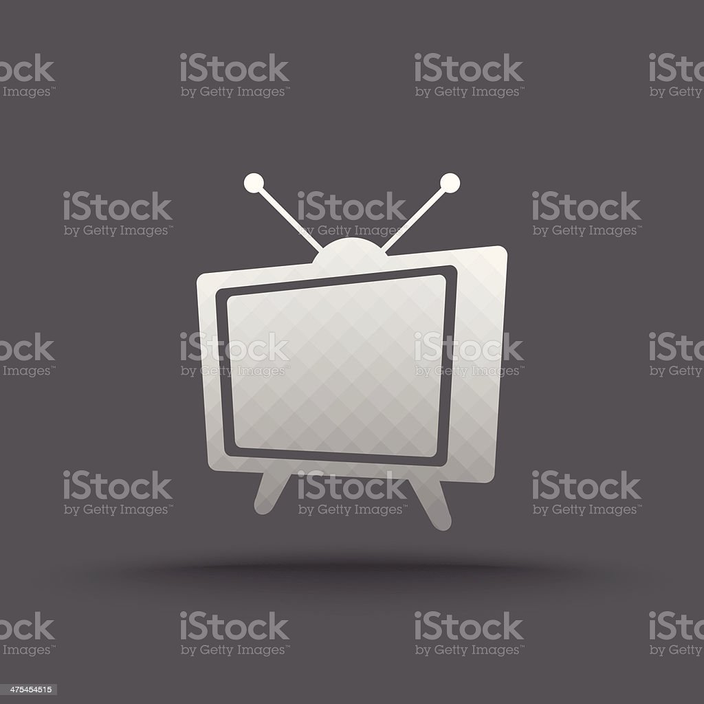 Vector of transparent classic television icon royalty-free stock vector art