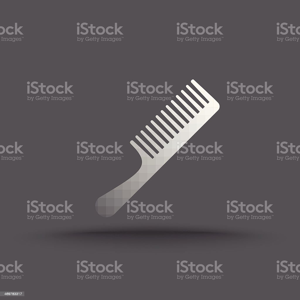 Vector of transparent comb icon royalty-free stock vector art