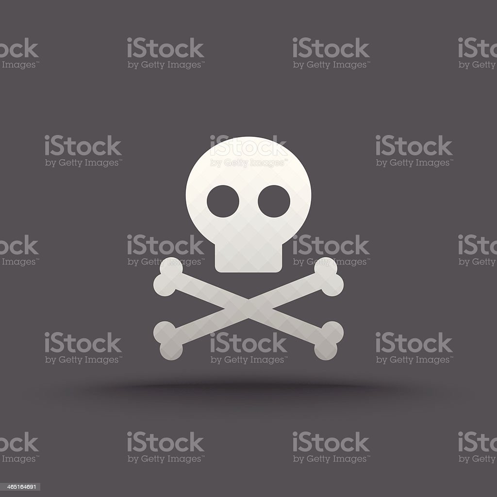 Vector of transparent skull and crossbones icon royalty-free stock vector art