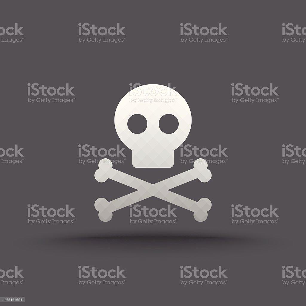 Vector of transparent skull and crossbones icon vector art illustration