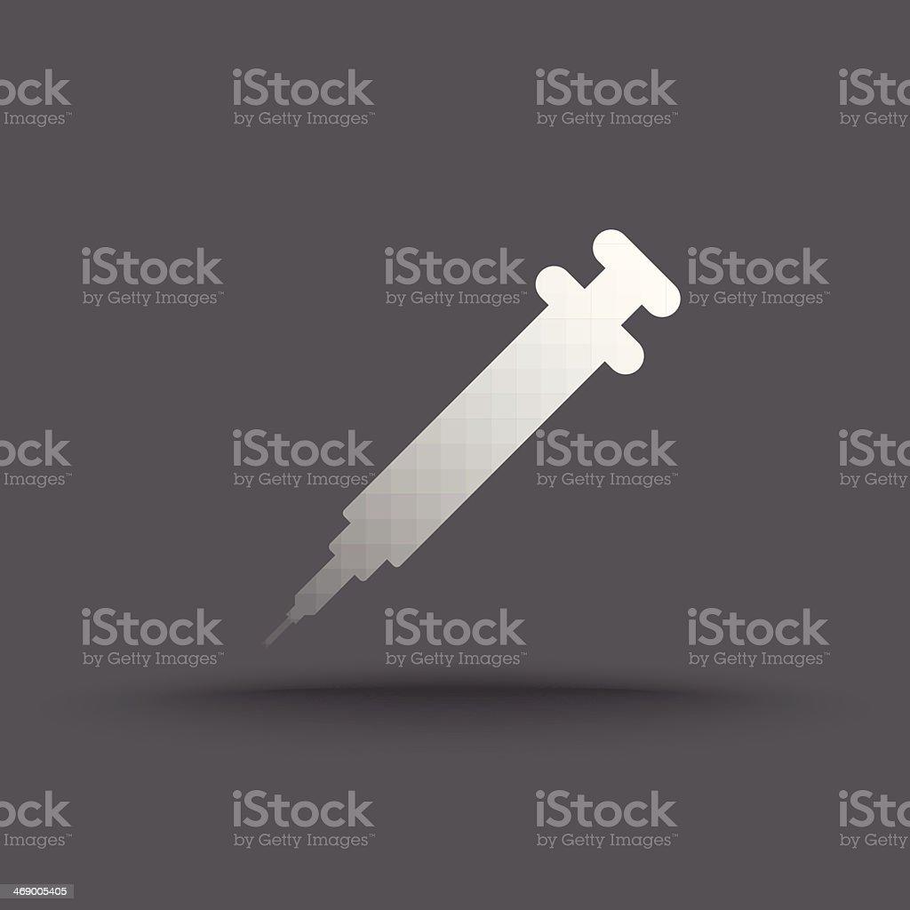 Vector of transparent syringe icon vector art illustration