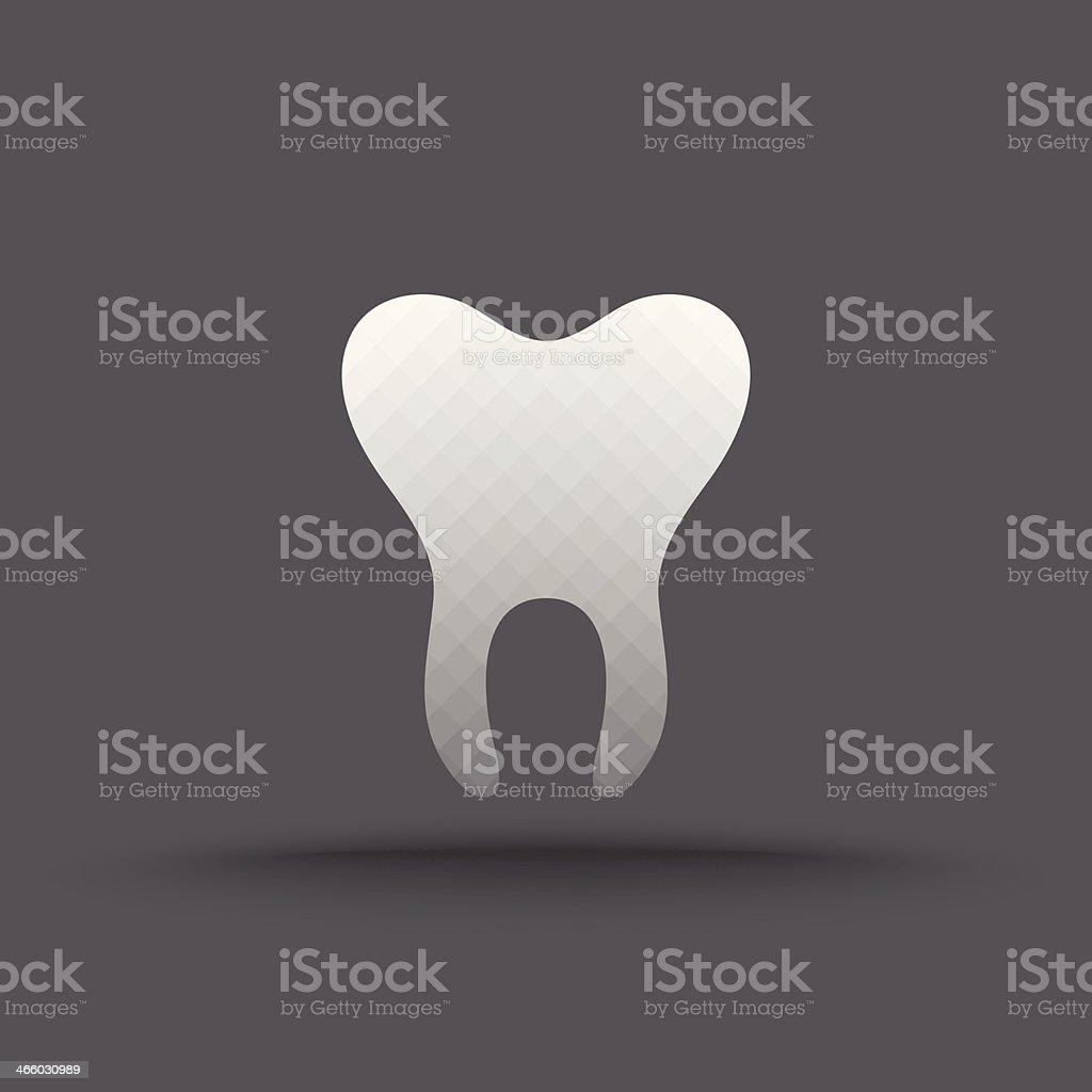 Vector of transparent teeth icon vector art illustration