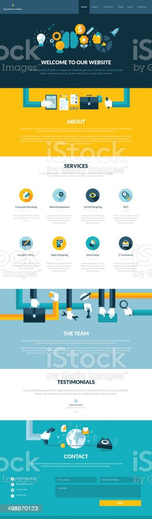 Vector of website design template page vector art illustration