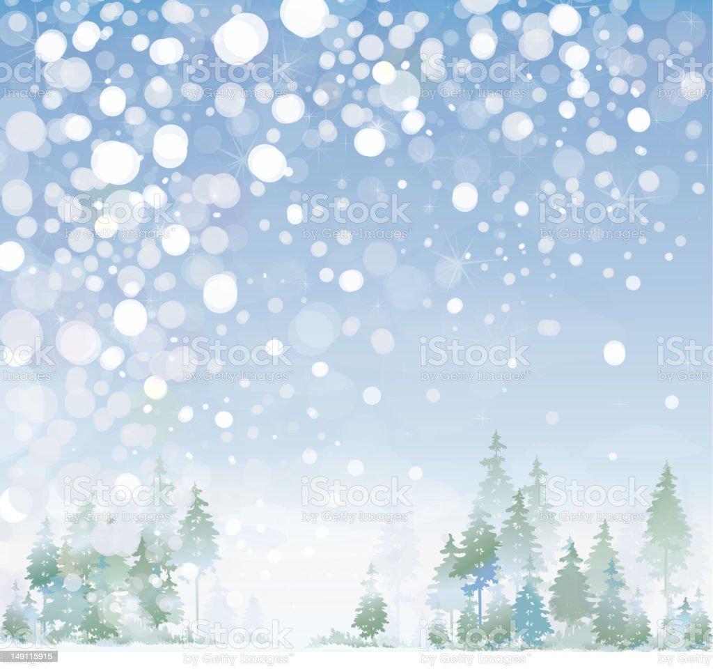 Vector of winter landscape. royalty-free stock vector art