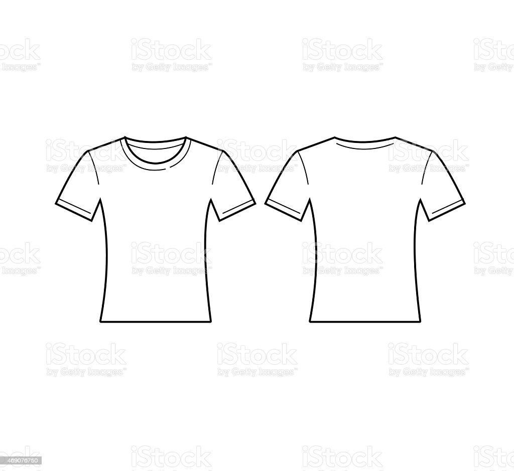 White t shirt front and back template - Vector Of Women White T Shirt Template Front And Back Royalty Free Stock