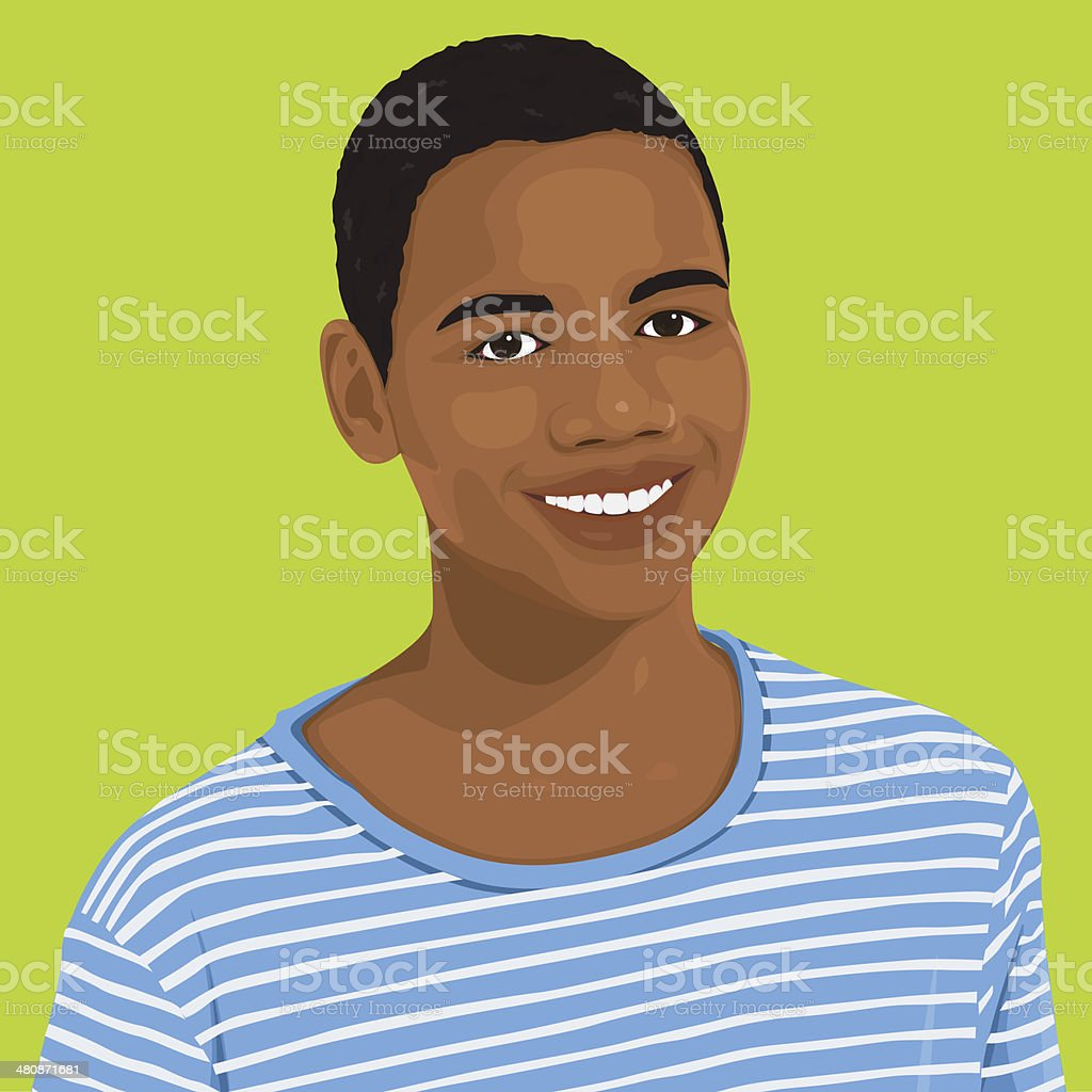 Vector of Young Male Portrait vector art illustration