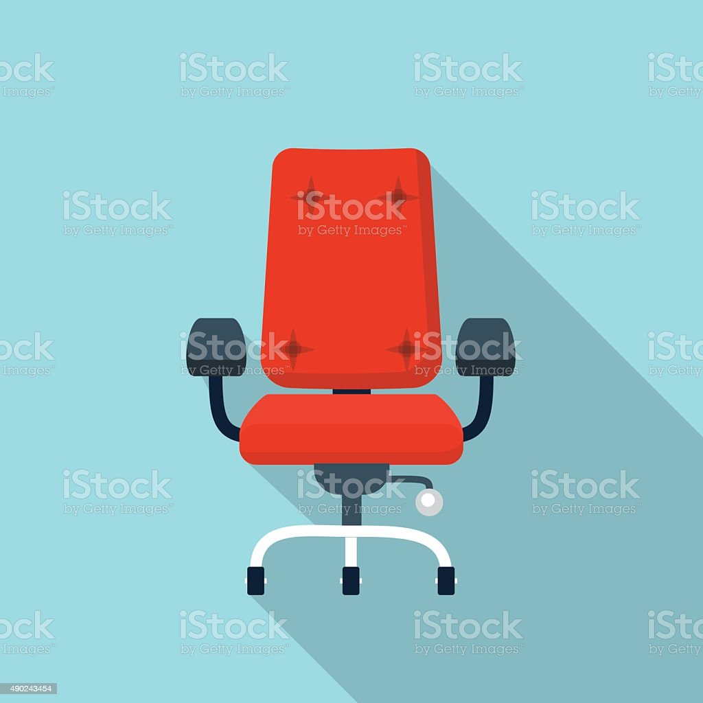 Vector office chair icon vector art illustration