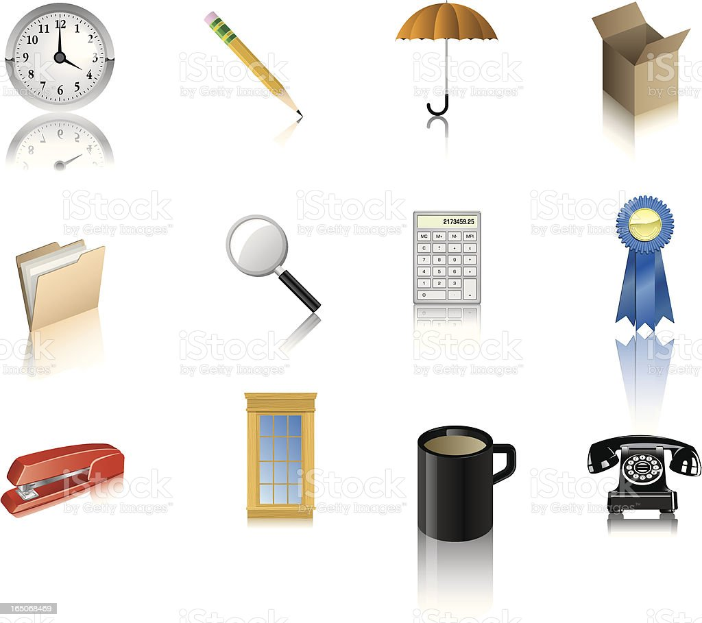 Vector Office Icons royalty-free stock vector art