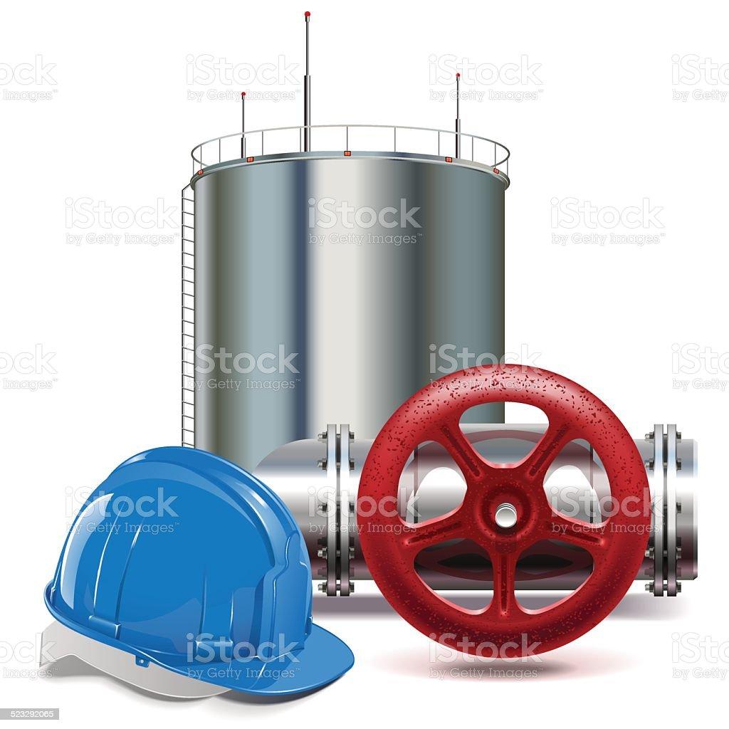 Vector Oil Industry vector art illustration