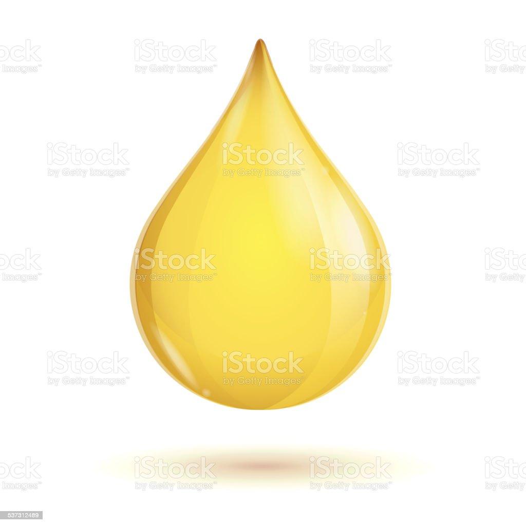 Vector oil transparent drop vector art illustration