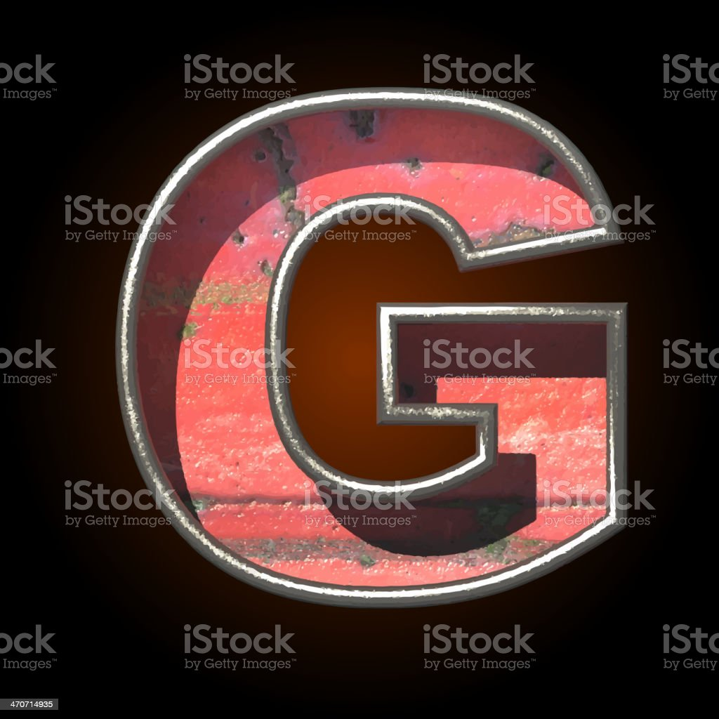 Vector old metal letter g royalty-free stock vector art