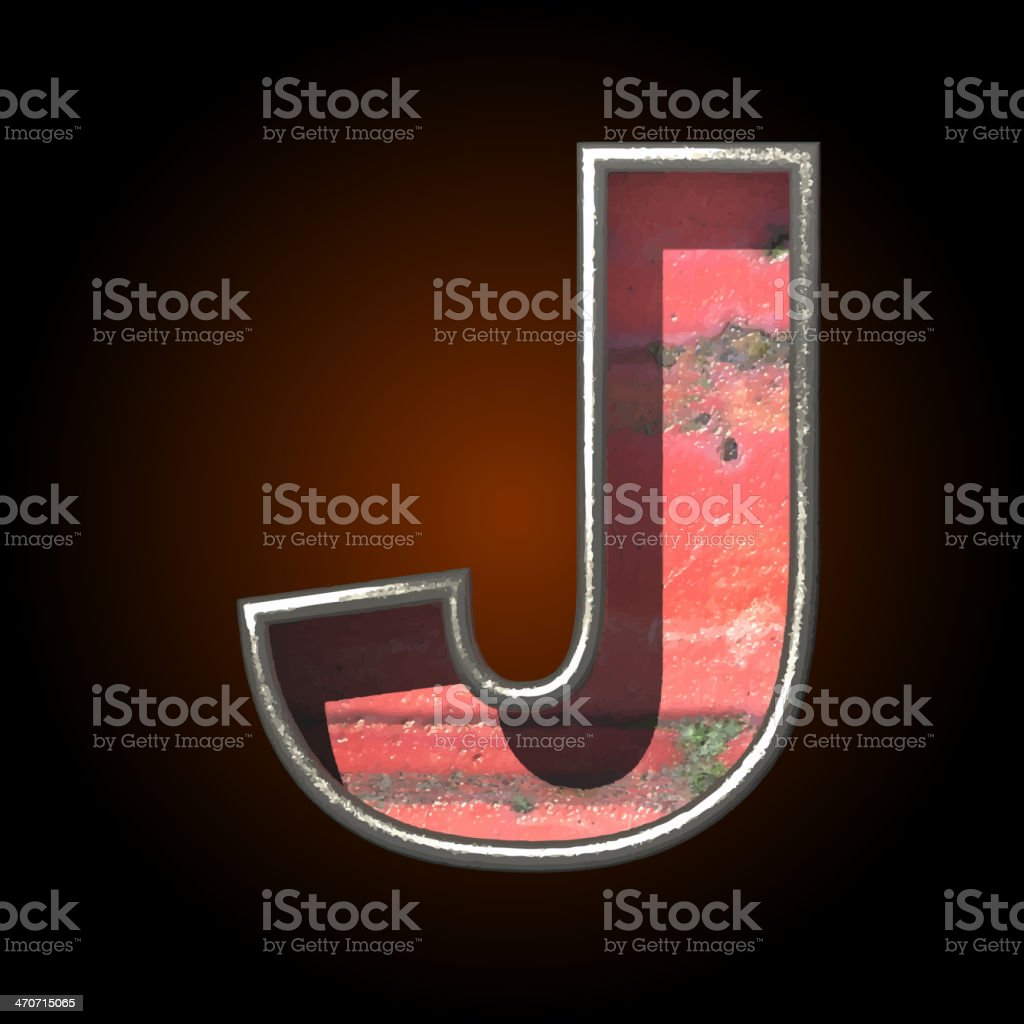 Vector old metal letter j royalty-free stock vector art