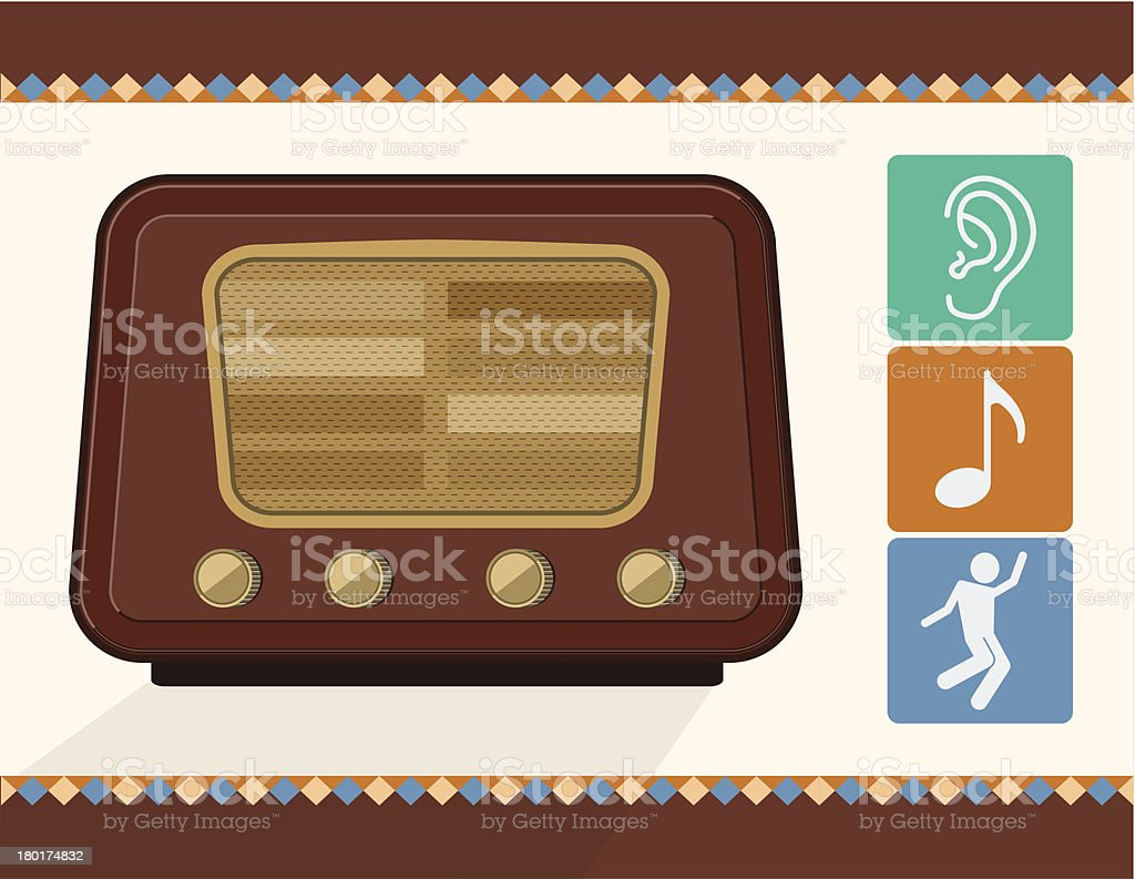 vector old radio royalty-free stock vector art