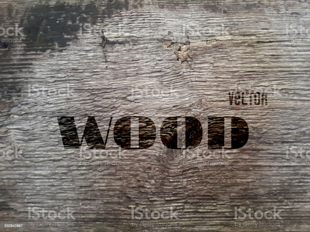 Vector Old Wood Texture vector art illustration