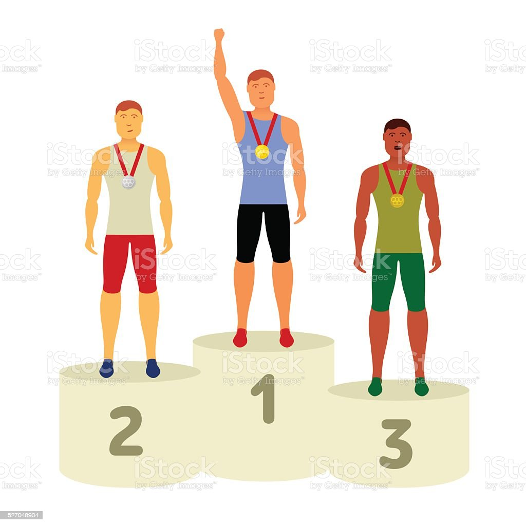 Vector Olympic attributes vector art illustration