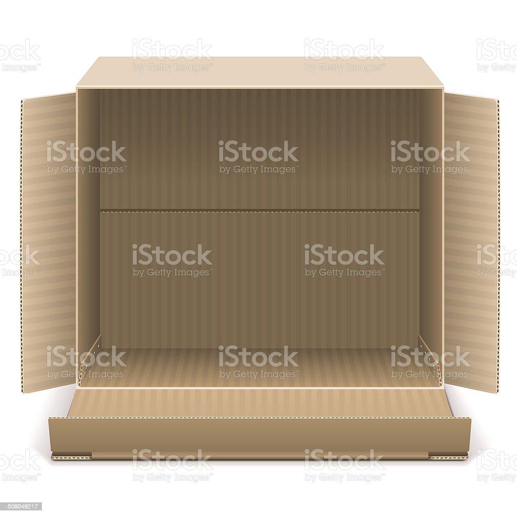 Vector Open Carton Box vector art illustration