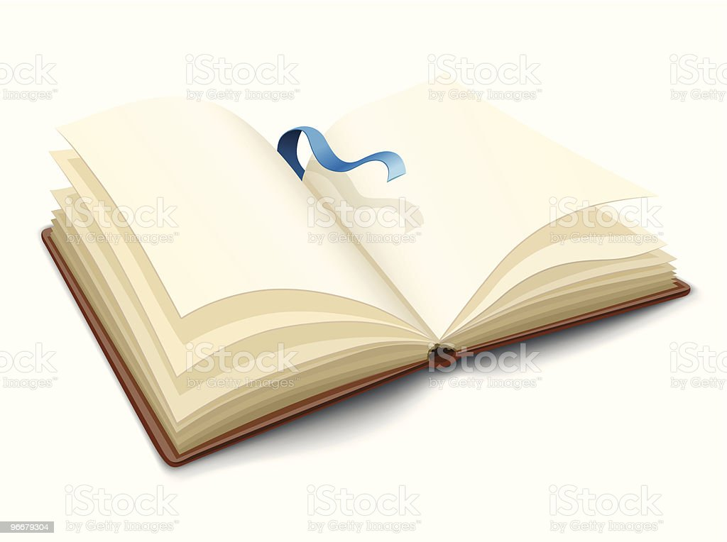 vector opened book with blank pages royalty-free stock vector art