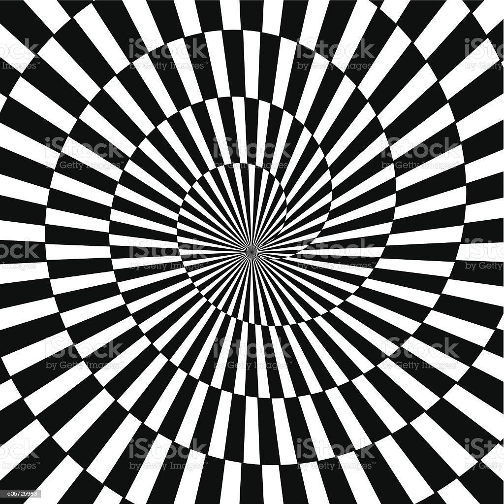 Vector Optical Art Infinity Tunnel vector art illustration