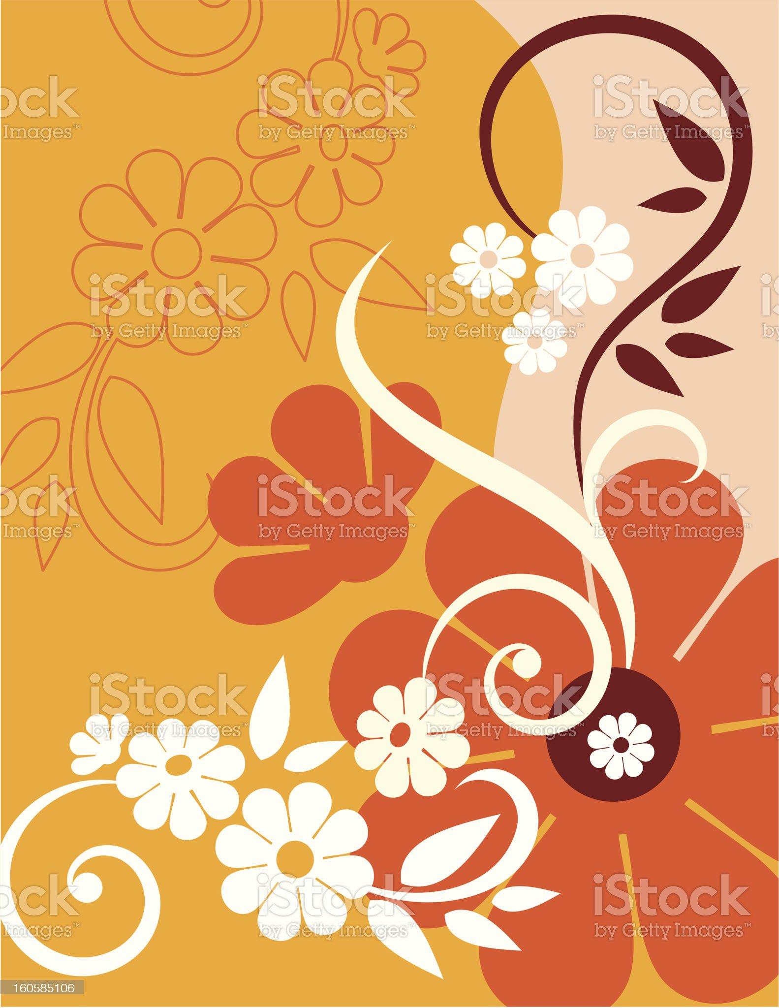 Vector orange floral background royalty-free stock vector art