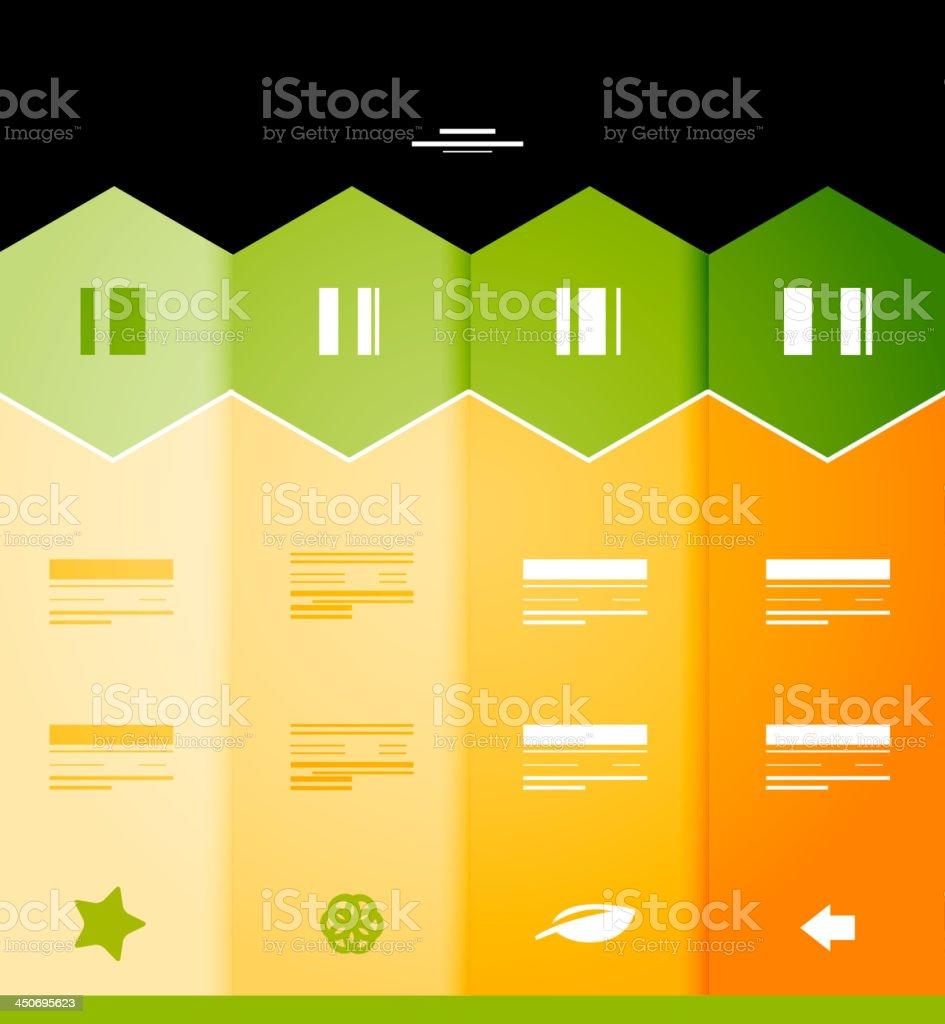 Vector orange infographic background vector art illustration
