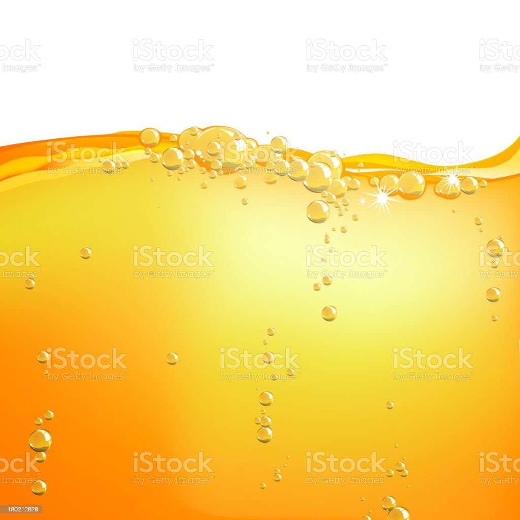 Vector Orange Water vector art illustration