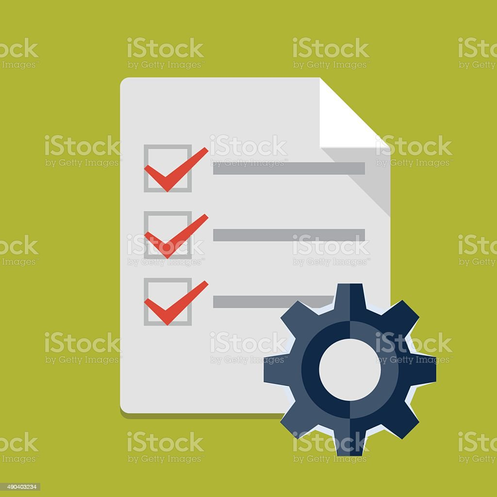 Vector order processing icon vector art illustration