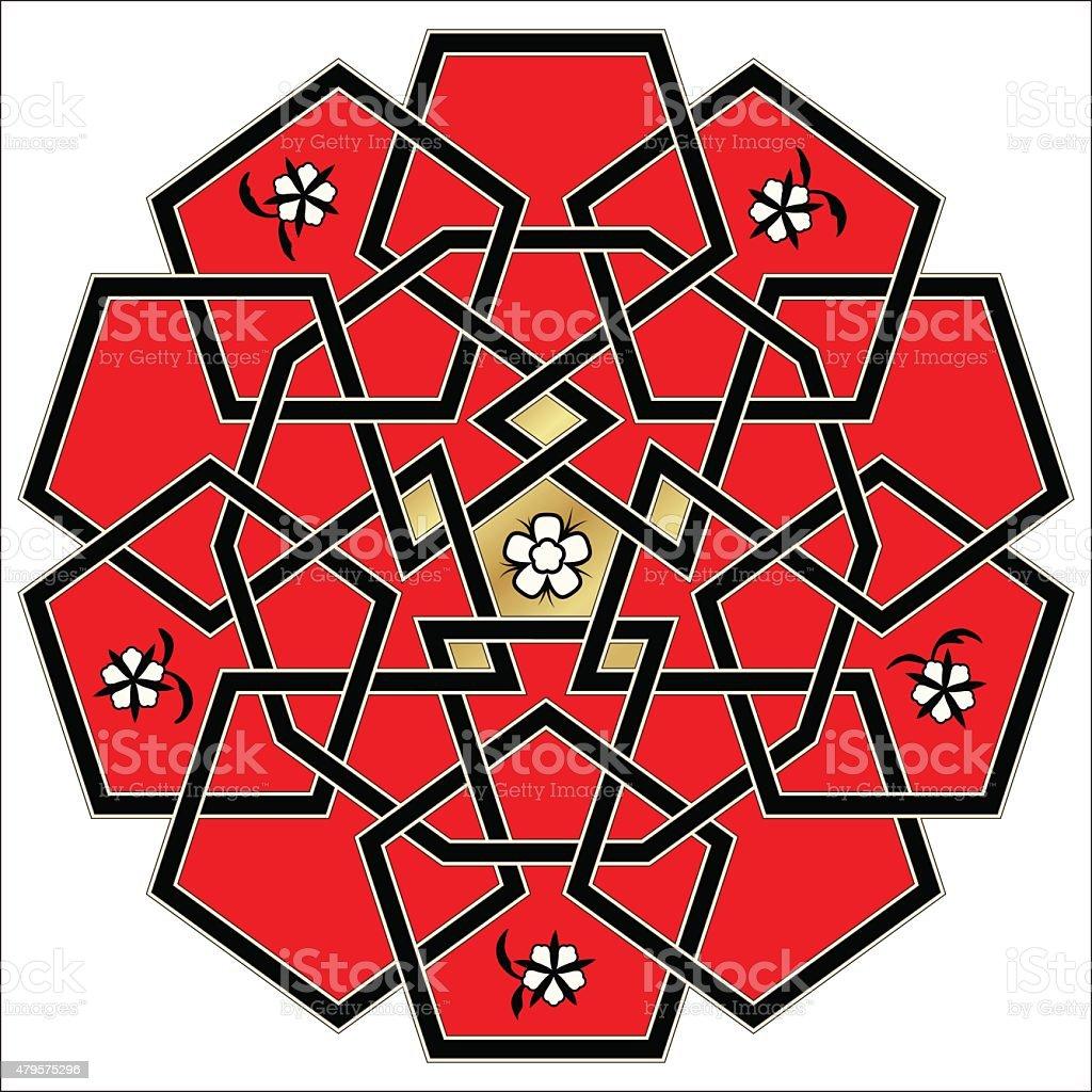 Vector ornament. Celtic knot style vector art illustration