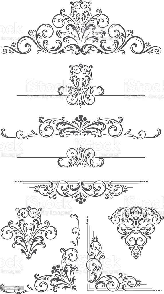 Vector Ornament - Dividers, Corners and Scrolls vector art illustration