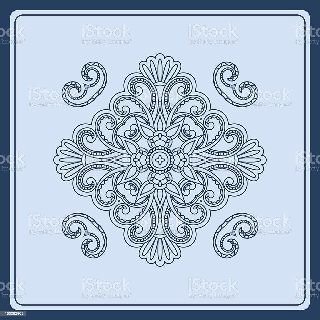 Vector ornamental background. royalty-free stock vector art