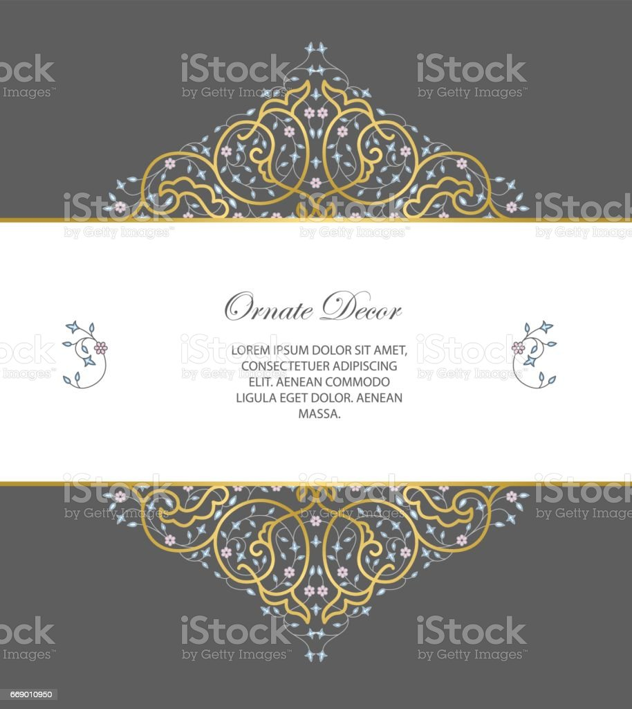 Vector ornamental  decorative frame. vector art illustration