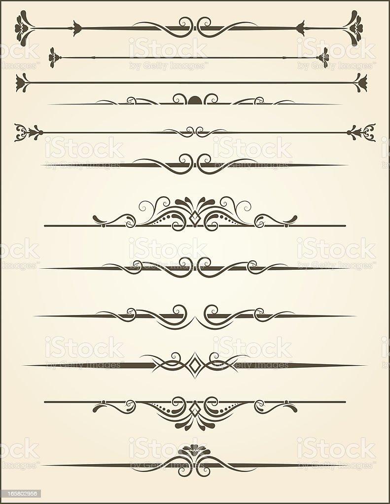 vector Ornamental Page Rules vector art illustration