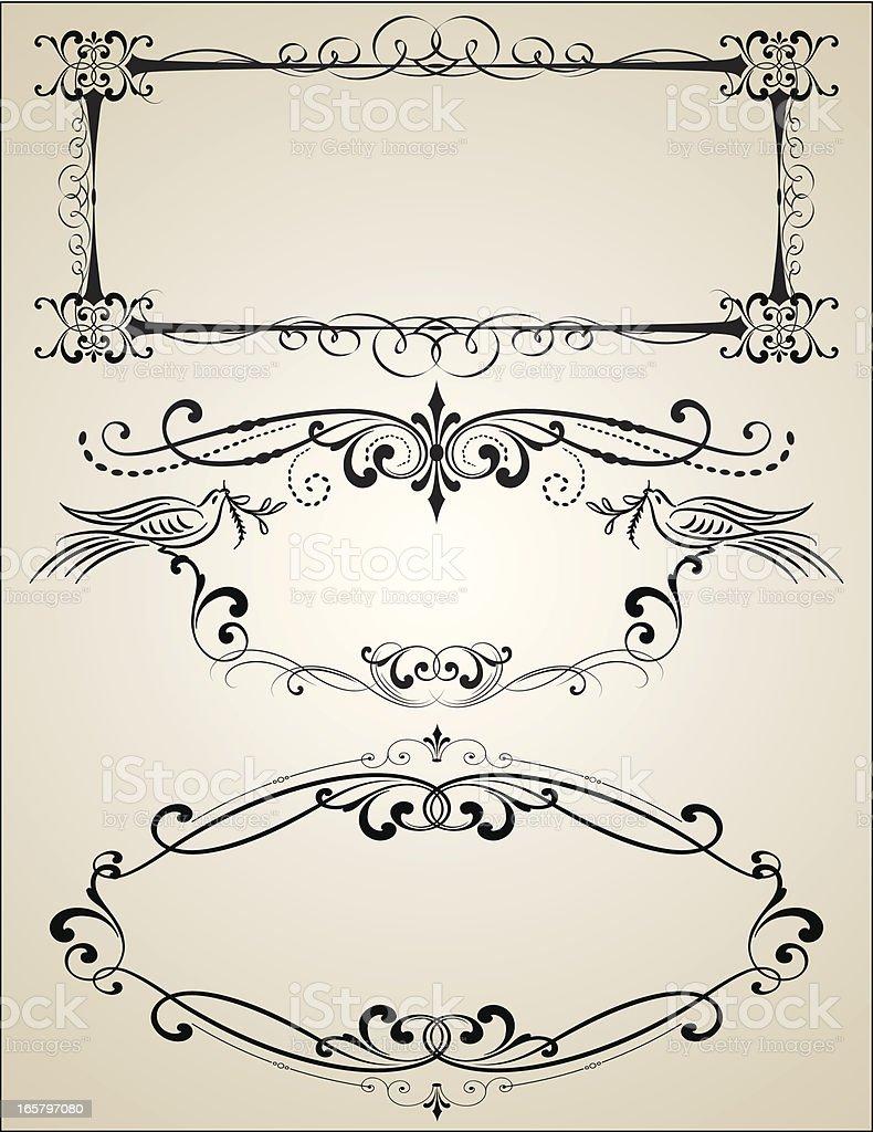 Vector Ornate Engraving Frames vector art illustration