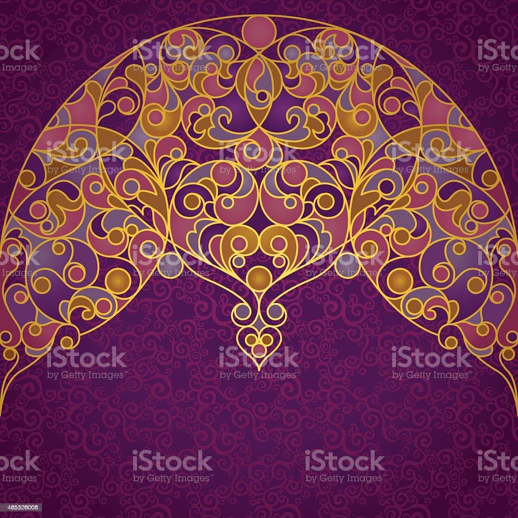 Vector ornate seamless border in Eastern style. vector art illustration